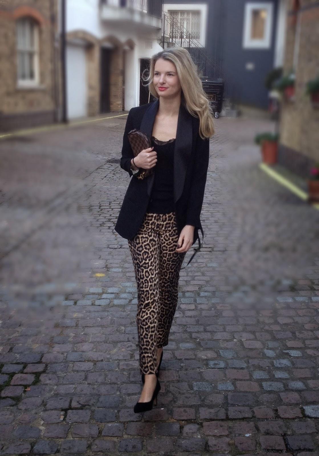 Isabel marant, isabel marant blazer, isabel marant pour h&m, isabel marant pour h&m blazer, isabel marant blazer, isabel maran tuxedo blazer, leopard print trousers, zara trousers, zara printed trousers