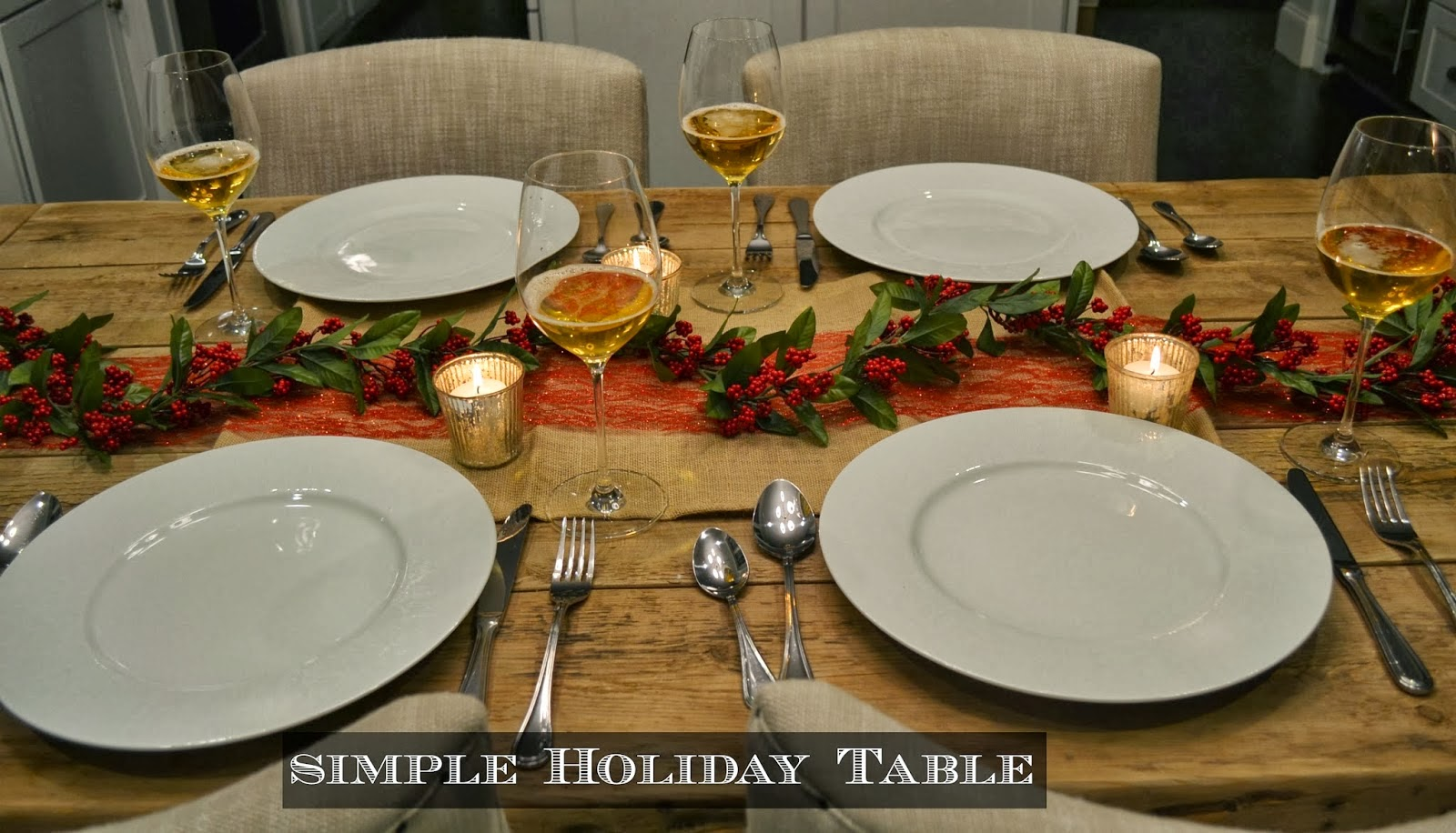 A Simple Holiday Table