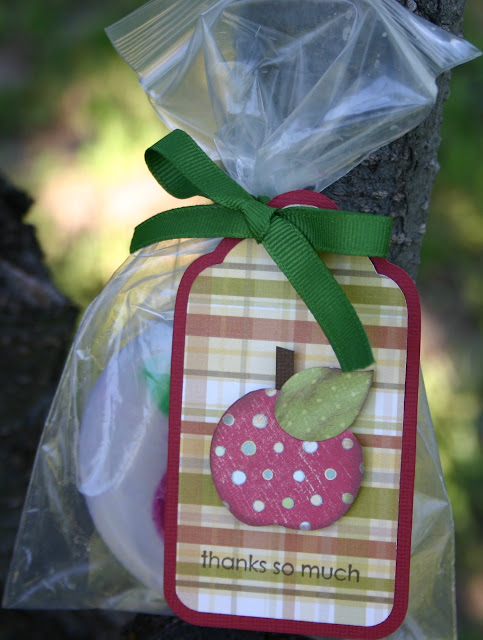 handmade soap: apple soap teacher's gift