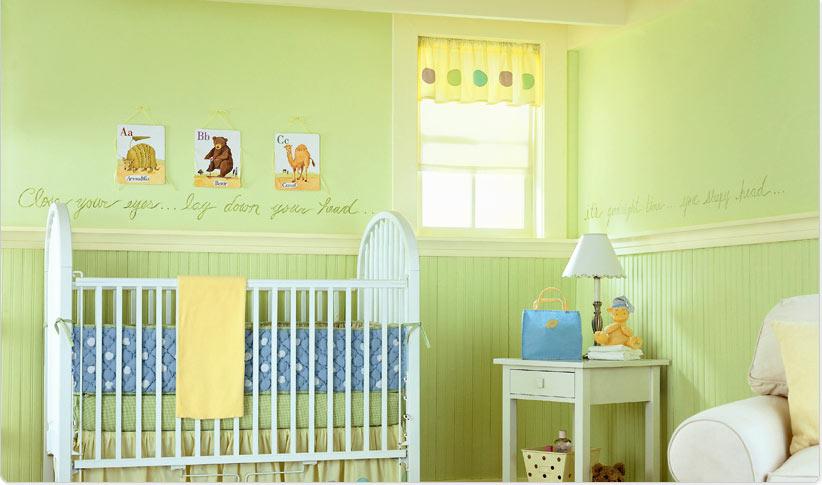 Como decorar o quarto do bebê romanomarques ~ Quarto Verde E Azul De Bebe