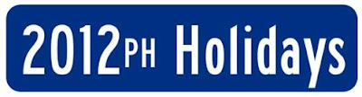 2012 Philippine Holidays