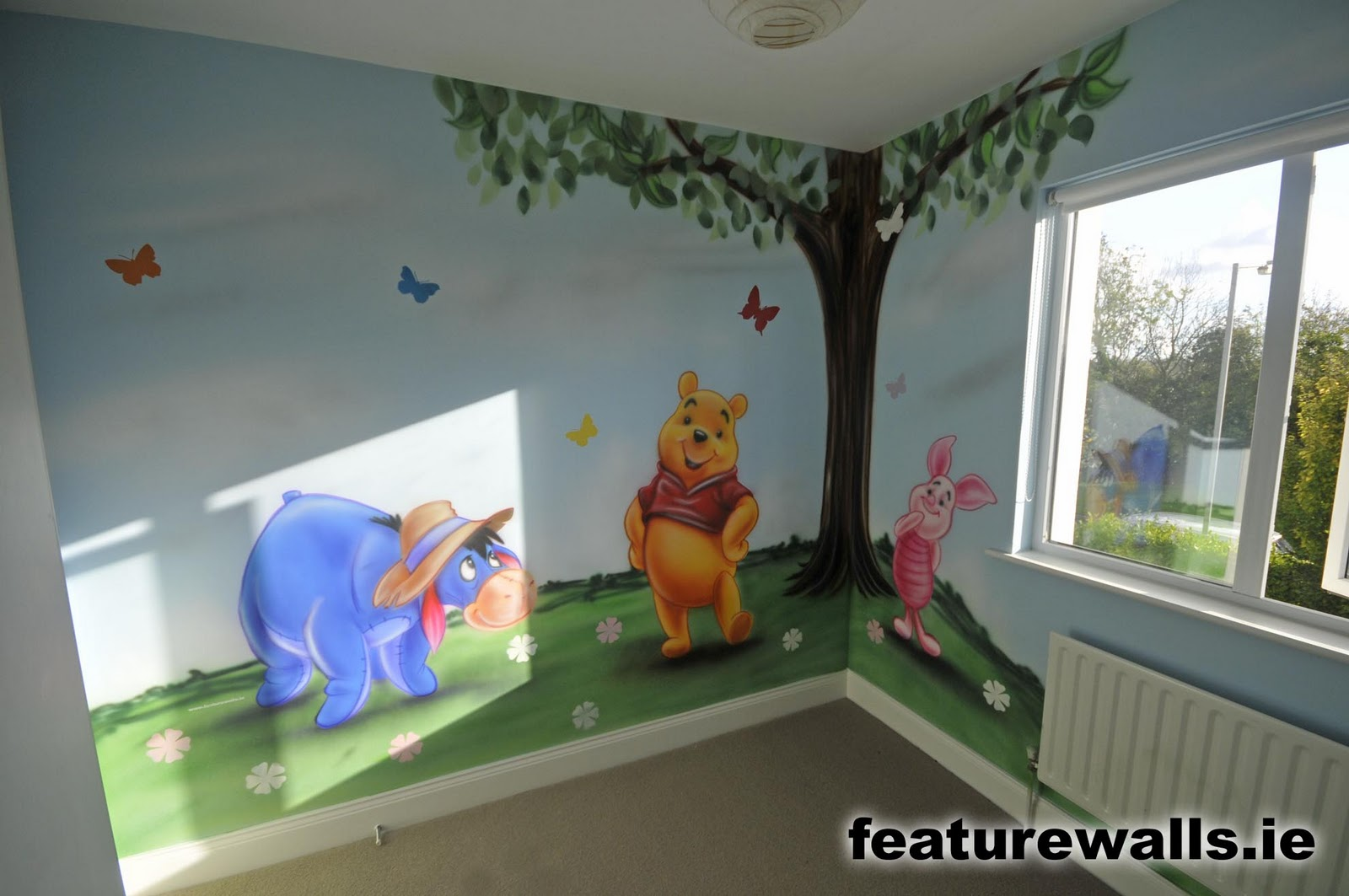 Painted murals 2017 grasscloth wallpaper for Children room mural