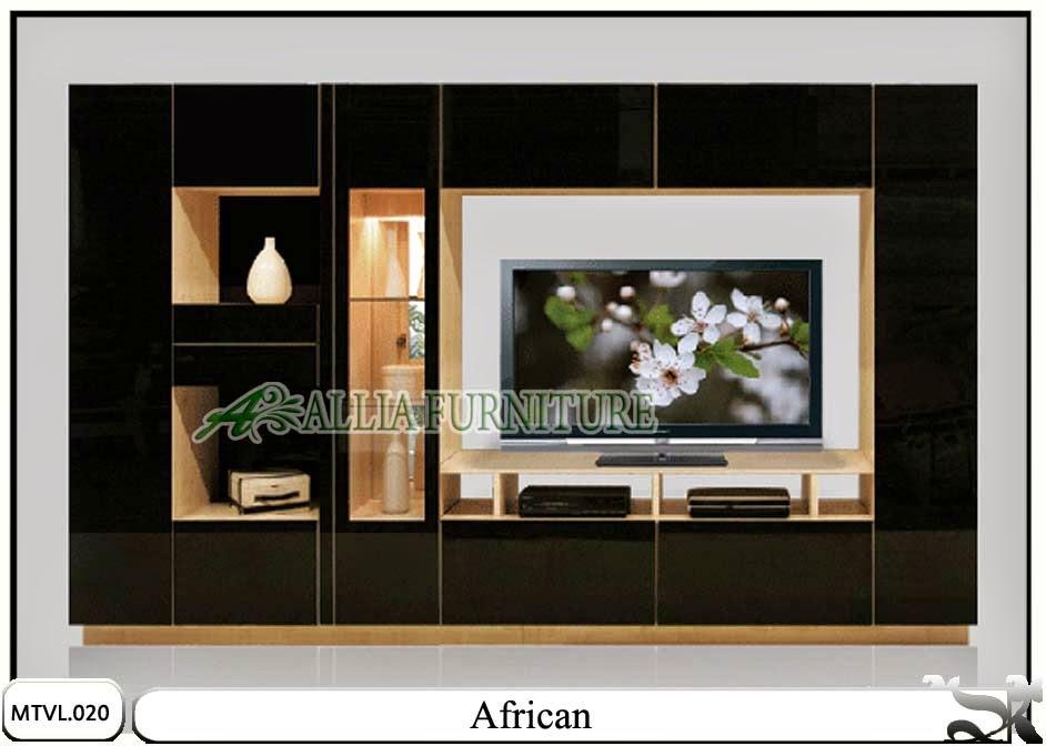 Lemari tv lcd hias minimalis African