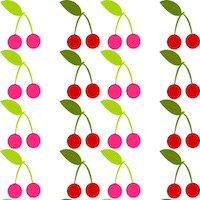 summer cherry pattern