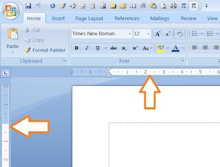 Cara memunculkan ruler, microsoft word, word 2007, tips word, tips komputer 2