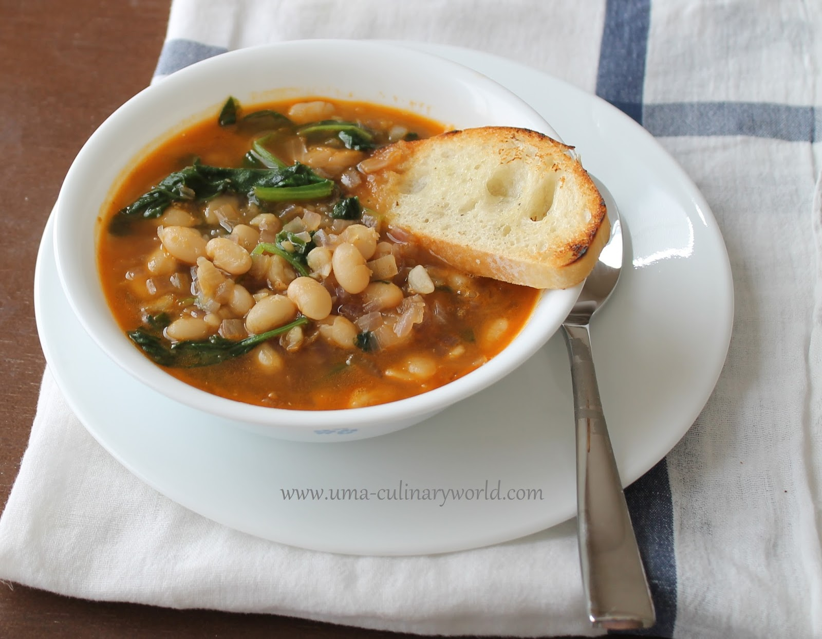 Uma's Culinary World: Spinach and White Bean Soup