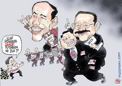 Karikatur Jokowi vs Foke dalam Pemilukada DKI Jakarta
