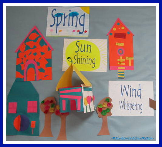 Spring Bulletin Board from Weather RoundUP at RainbowsWIthinReach