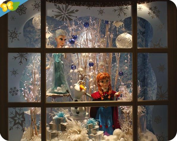 Vitrine de Noël 2014 à Disneyland Paris