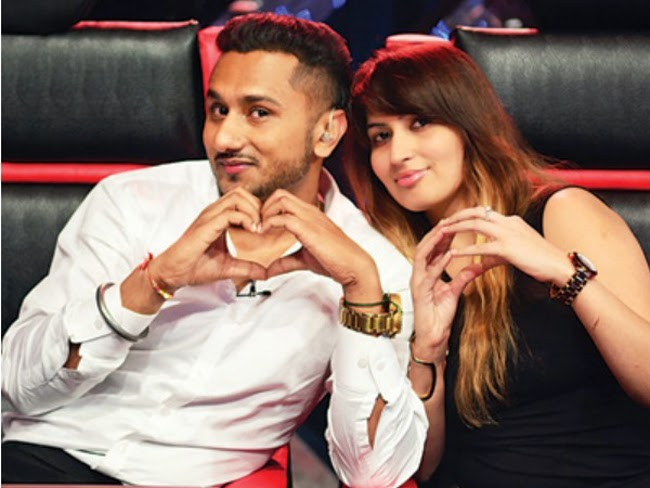 Honey Singh with wife Shalini Images on India's Rawstar - Punjabi ...