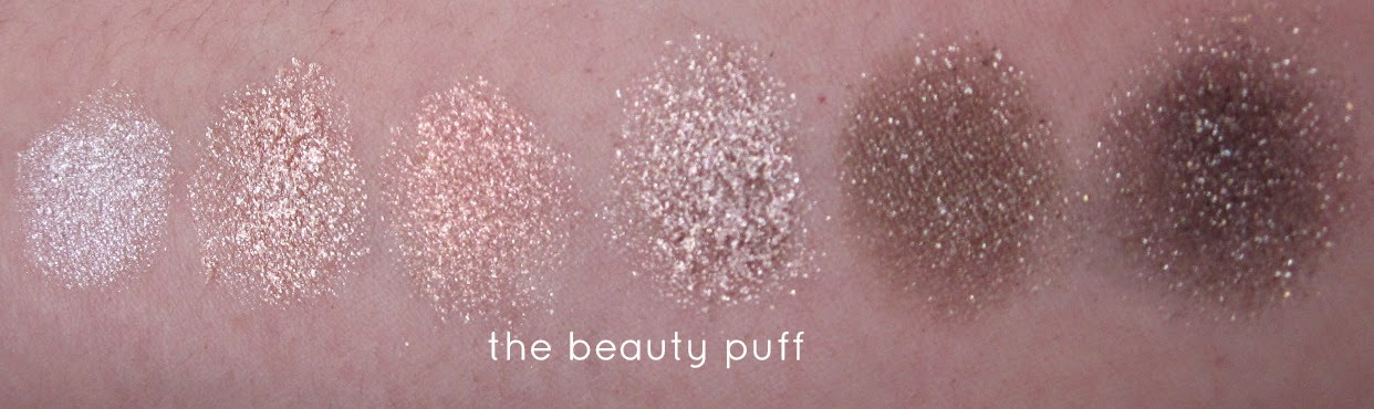 physicians formula extreme shimmer nude palette swatches - the beauty puff