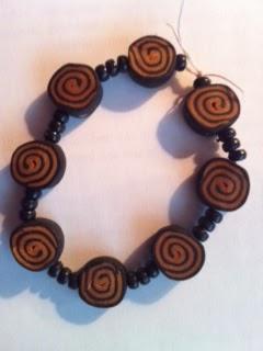 Polymer Clay Bead Bracelet