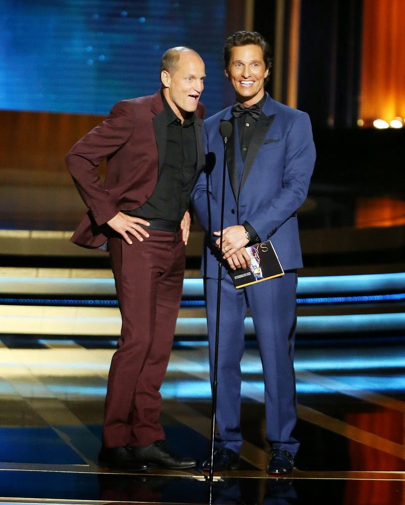 Matthew McConaughey and Woody Harrelson at the 2014 Emmys