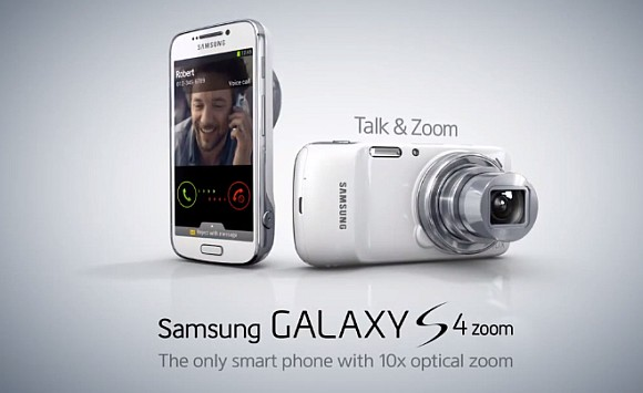 Samsung Galaxy S4 Zoom Telefon Kamera Android Pertama