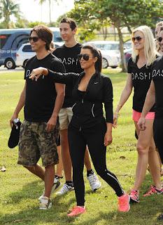 Kim Kardashian exercising