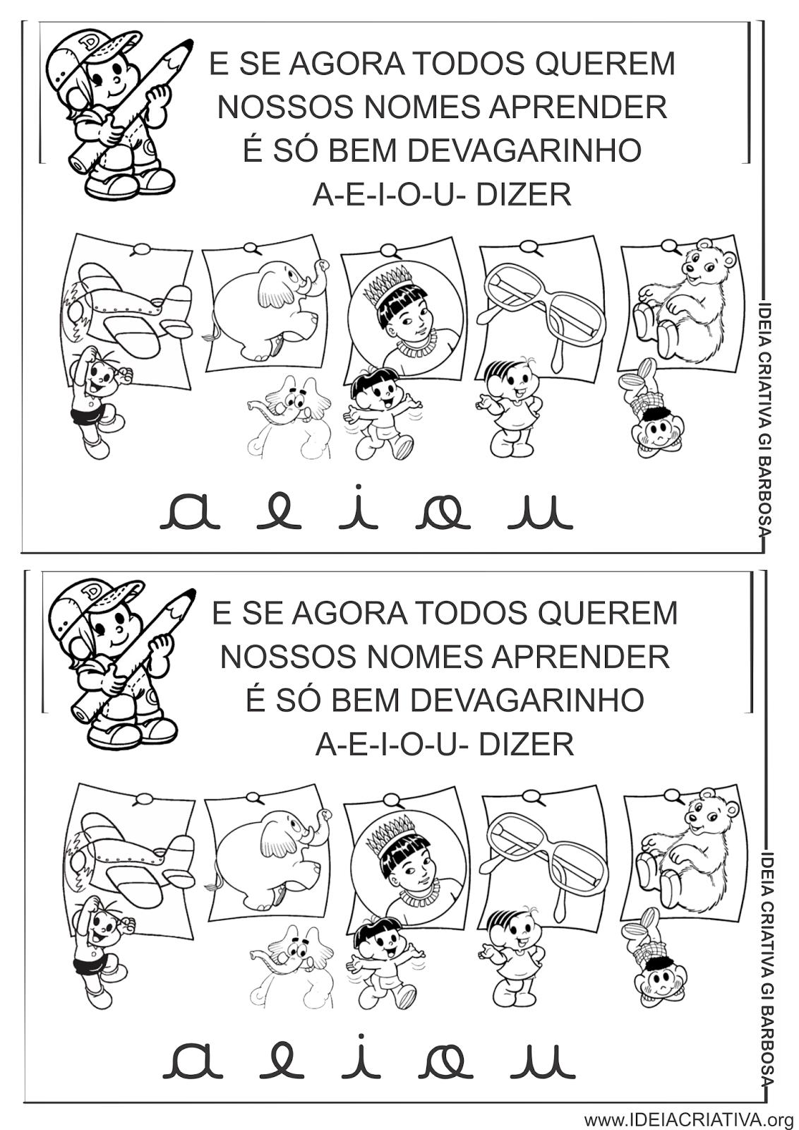 Músicas Ilustradas Vogais