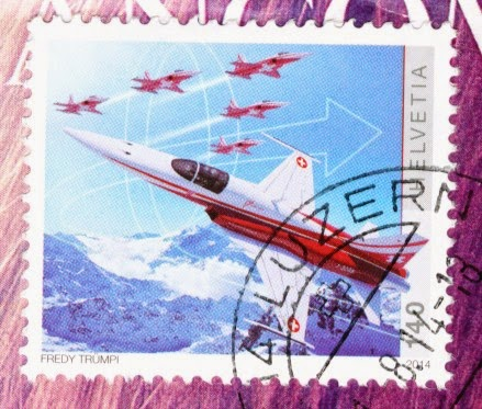 switzerland, stamp, helvetia, F-5, air force