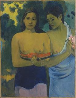 Dos mujeres tahitianas - Paul Gauguin