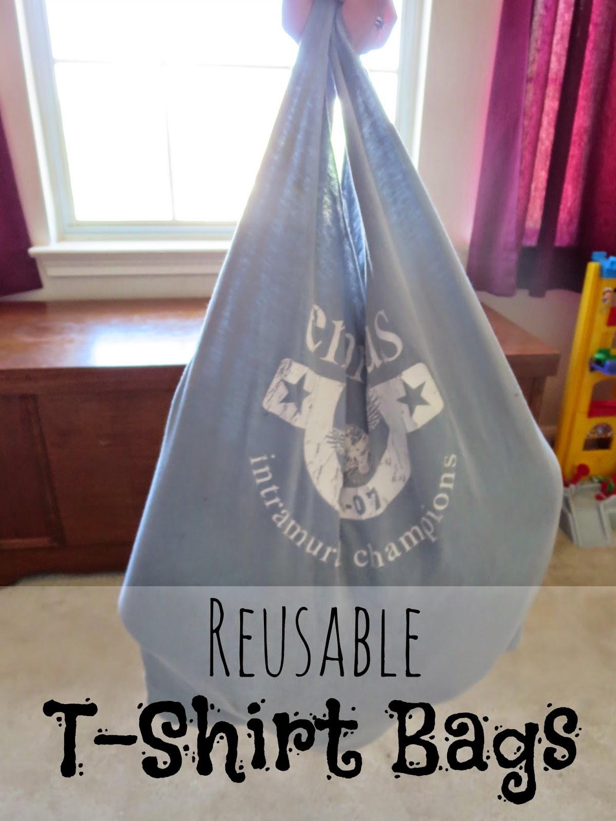 Hippy tip tuesdays reusable t shirt bags my mundane and for Reusable t shirt bags