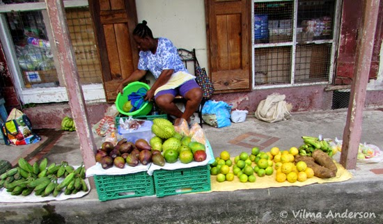 Local fruit vendor in St. Lucia