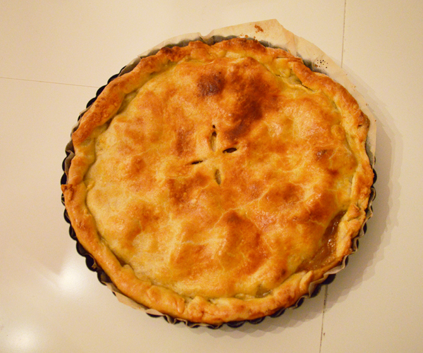 All American apple pie with homemade crust