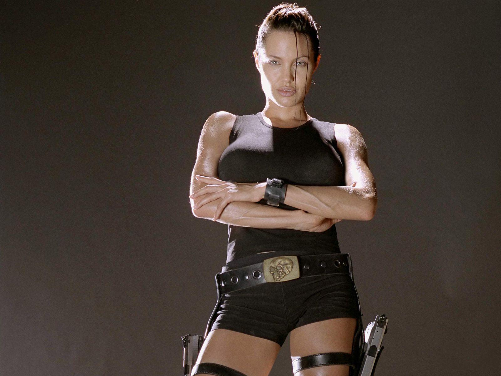 Your idea Angelina jolie as lara croft and thought