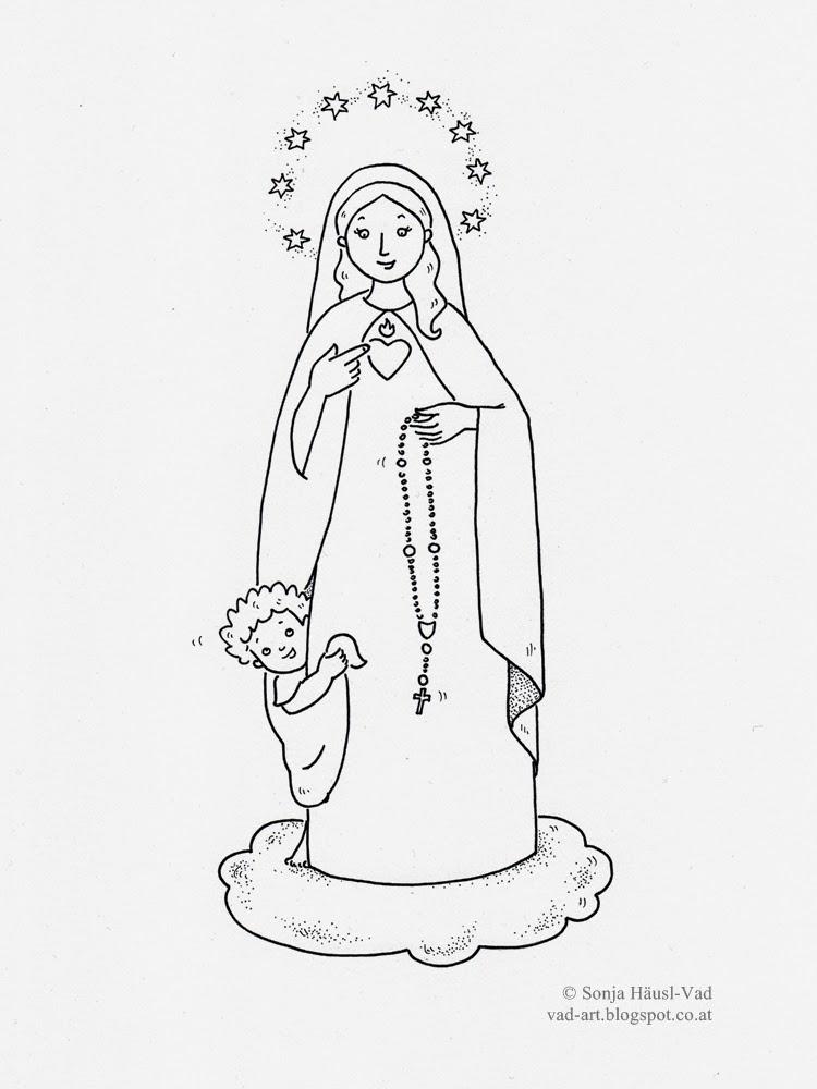 Panna Maria omalovánka