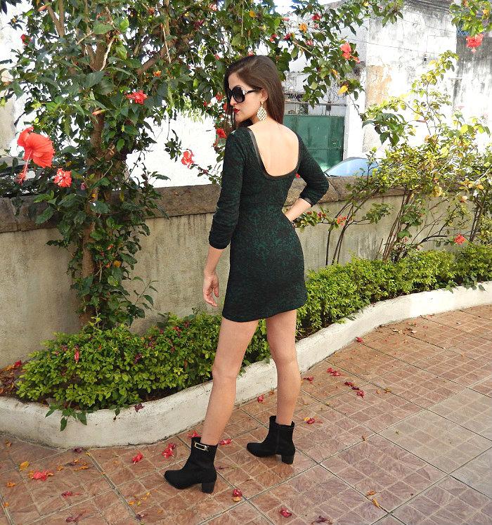 look com vestido e bota