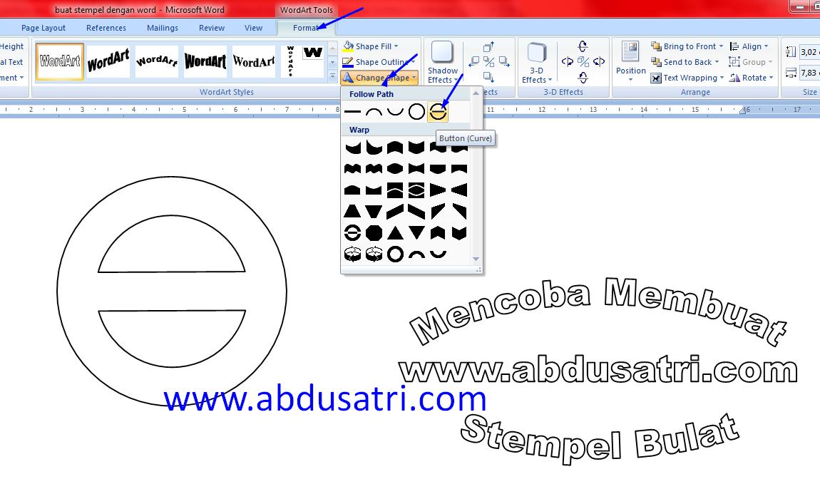 tutorial buat stempel dengan word