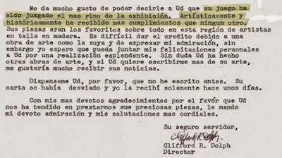 Parte final de la carta del Maryhill Museum a Manuel Tobella