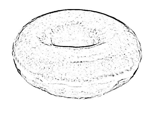 Donut Food Sketch - Image Sketch