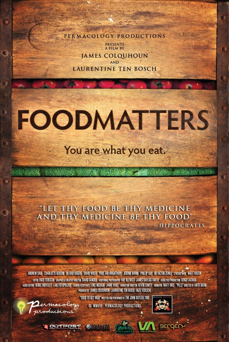 Food Matters In a collection of interviews with leading Nutritionists, Naturopaths, Scientists, M.D.'s and Medical Journalists you will discover scientifically verifiable solutions for overcoming illness naturally.