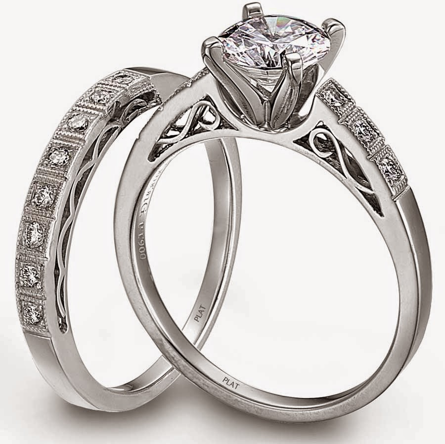 Platinum Diamond Matching Wedding Ring Sets His & Hers pictures hd