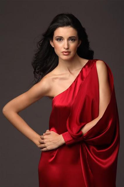 Noelia Lopez sexy in red dress fashion