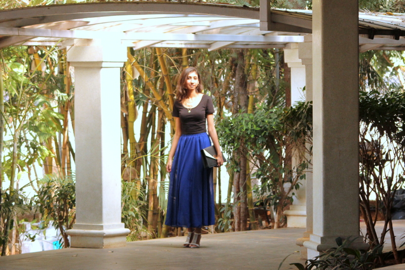 best indian fashion blog, the girl at first avenue top blogger india, oasap blue maxi skirt, valentines day indian fashion blogger