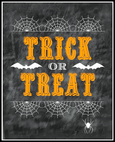 Trick or Treat Printable @ Blissful Roots