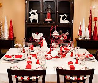 Decoracion de Mesas Navideñas Color Rojo, parte 3
