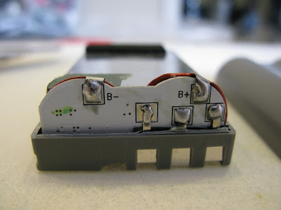 Circuit Board Inside DSLR Camera Battery