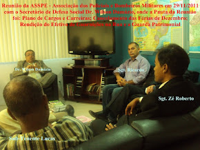 Reunião com o secretário de defesa social wilson damázio em 29/11/2011