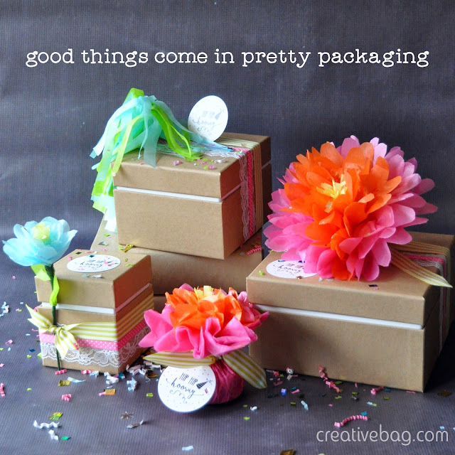 good things come in pretty packaging | Creative Bag