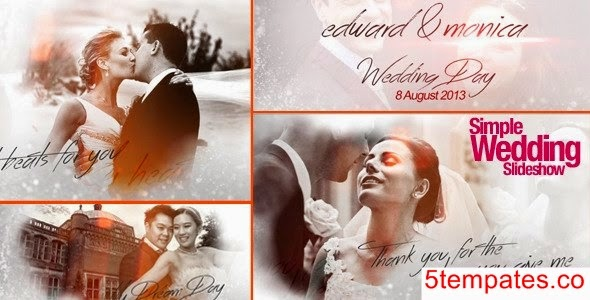 SIMPLE WEDDING SLIDESHOW - AFTER EFFECTS PROJECT (VIDEOHIVE) - Free ...