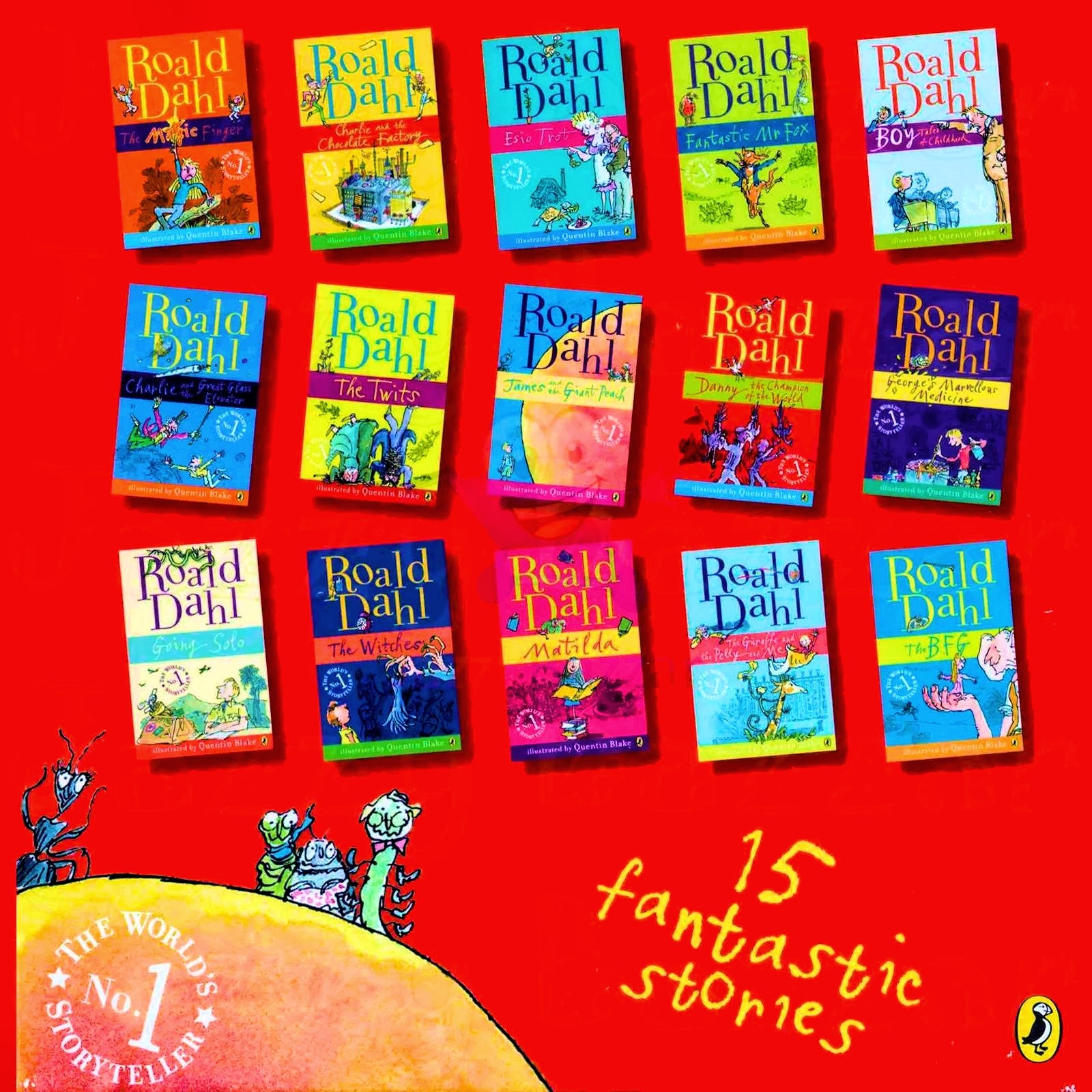 Textbooks and Books (T&B): ROALD DAHL Collection Phizz Whizzing 15 ...