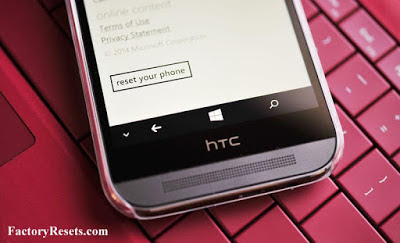 Factory Reset HTC One (M8) for Windows (CDMA)