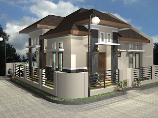 3D home plan design ideas modern house picture desain rumah
