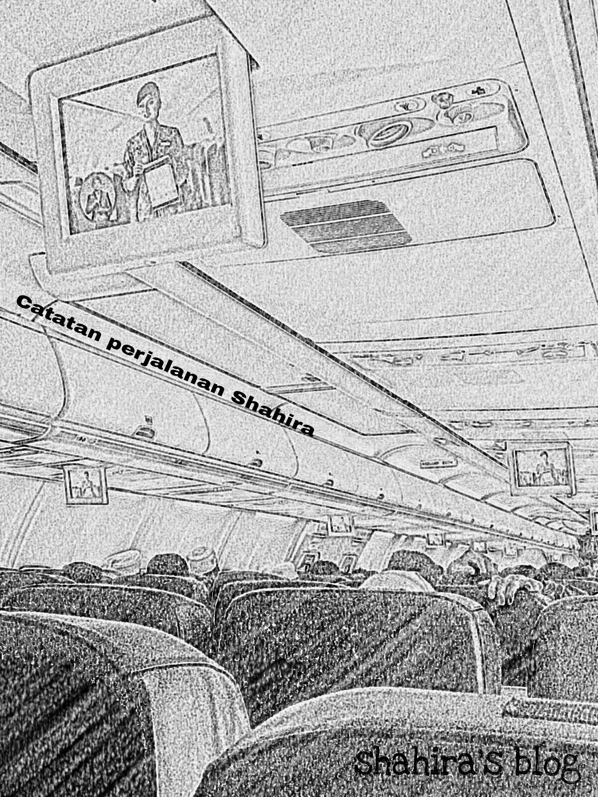 Pengalaman naik kapal terbang
