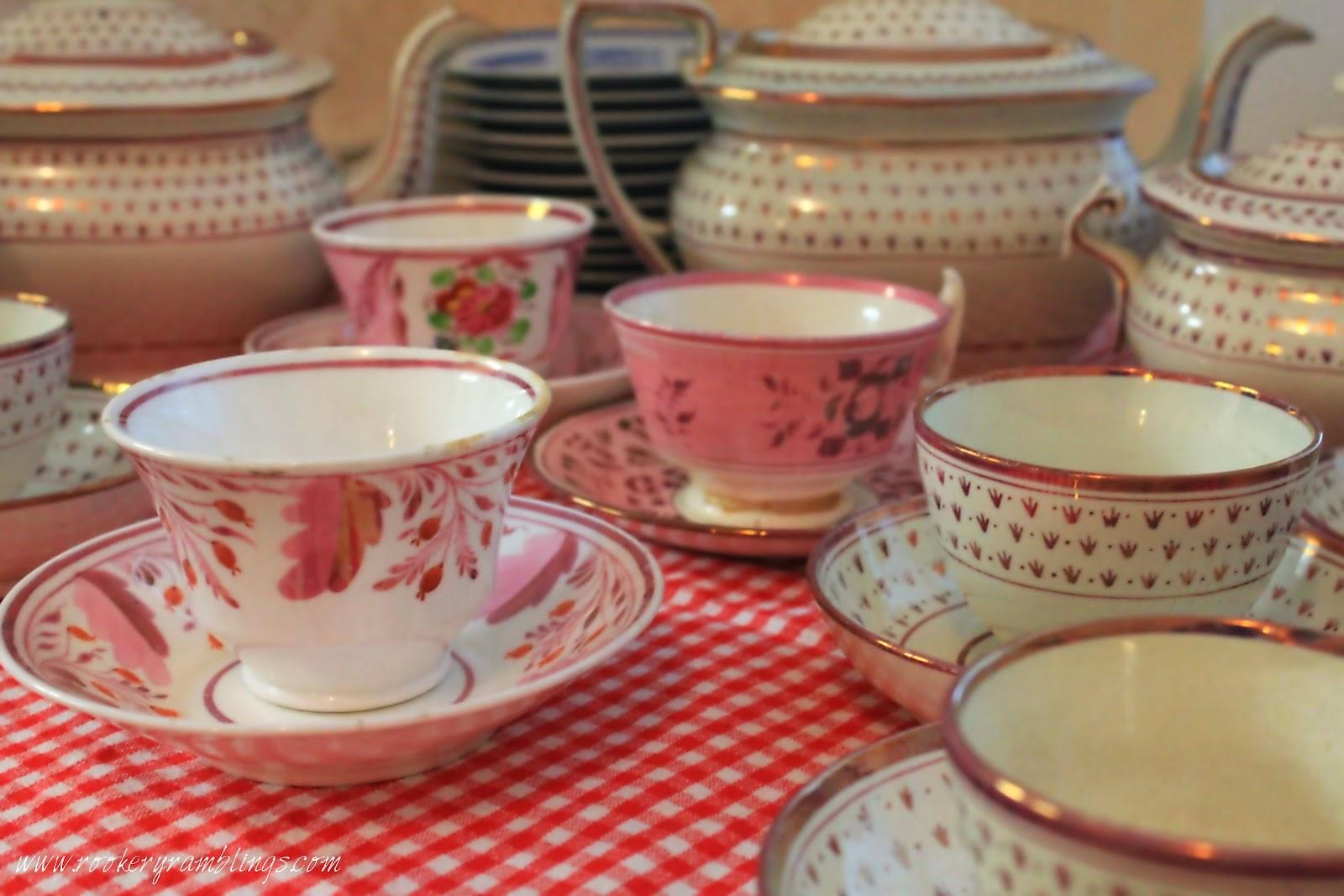 Pink Luster Teacups