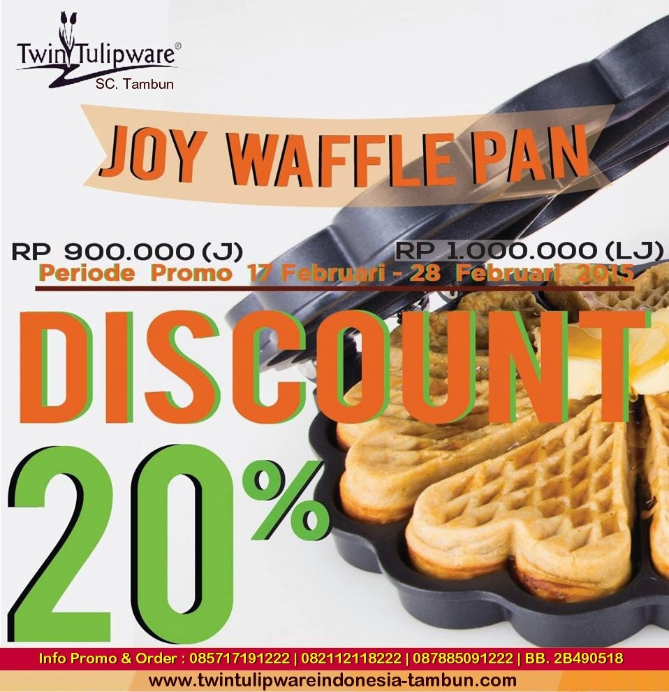 Joy Waffle Pan Tulipware - Diskon 20%