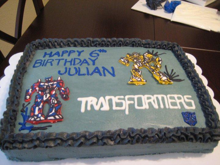 Gn Culinary Designs Transformer Birthday Cake