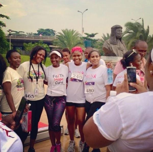 Genevieve Nnaji Runs Marathon