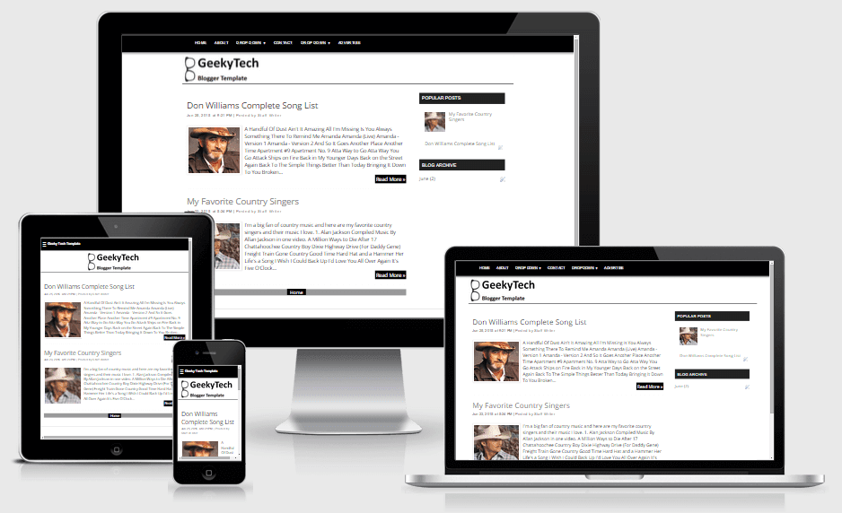 GeekyTech Free Simple, Fast Loading and Responsive Blogger Template ...